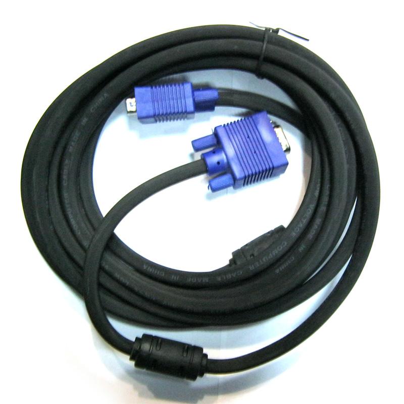 Кабель VGA-VGA (DE-15Hd) ATcom с ферритом 5.0m
