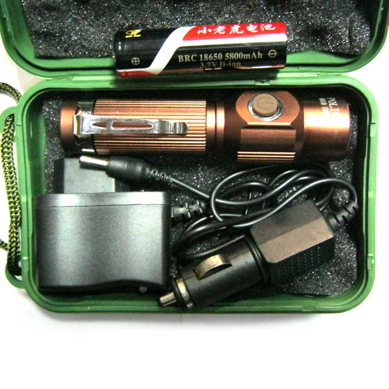 Фонарь аккумуляторный Bailong BL-6812 (18000W +ЗУcеть;Li-ion18650+ЗУавто)