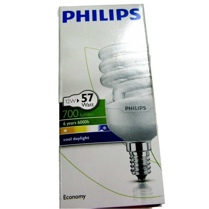 Лампочка энергосберегающая Philips Twister 12W CDL Е14 cool daylight(Распродажа)