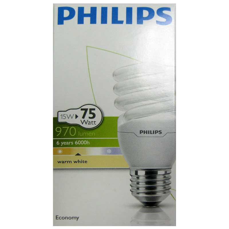 Лампочка энергосберегающая Philips Twister 15W WW Е27 warm white(Распродажа)