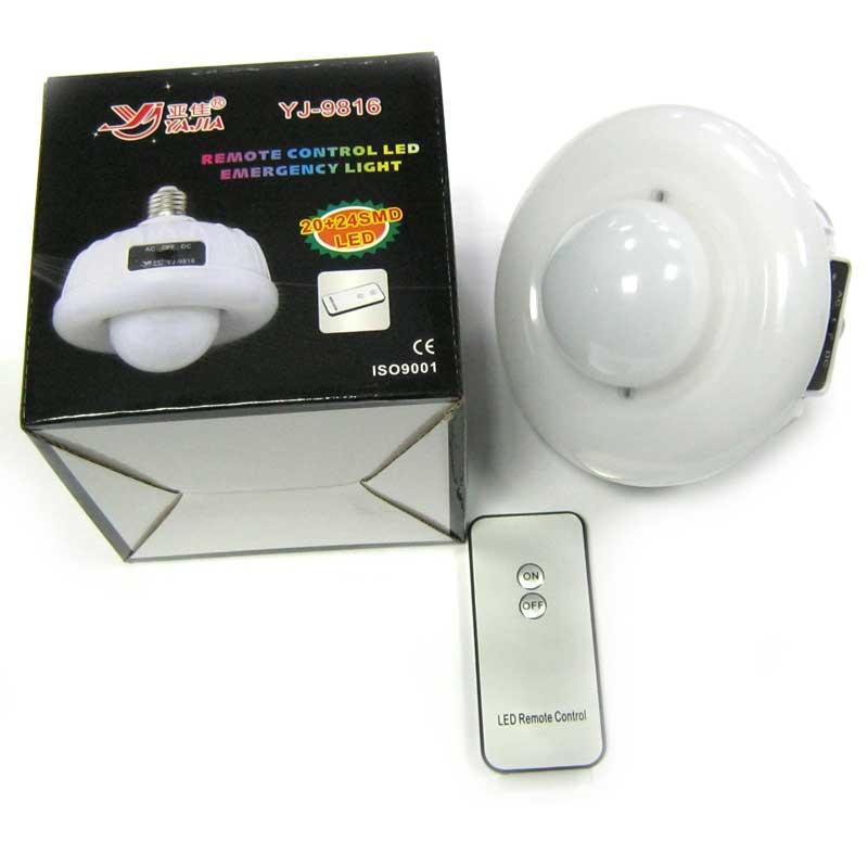 Фонарь аккумуляторный -лампа Yajia YJ-9816 (Распродажа!!!)(20LED+24LED)