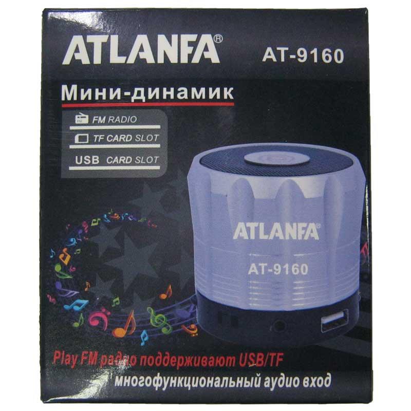 Портативная колонка Atlanfa AT-9160 мини(Распродажа!!!)(аккумулятор.USB;microSD)