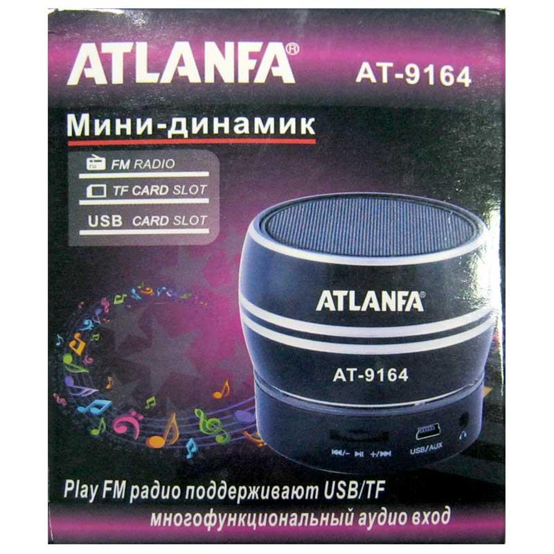 Портативная колонка Atlanfa AT-9164 мини(Распродажа!!!)(аккумулятор.USB;microSD)