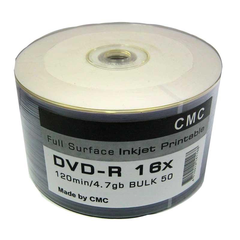 Диск CMC 4,7Gb - 16x (bulk 50) DVD-R Full Printable(Ritek)