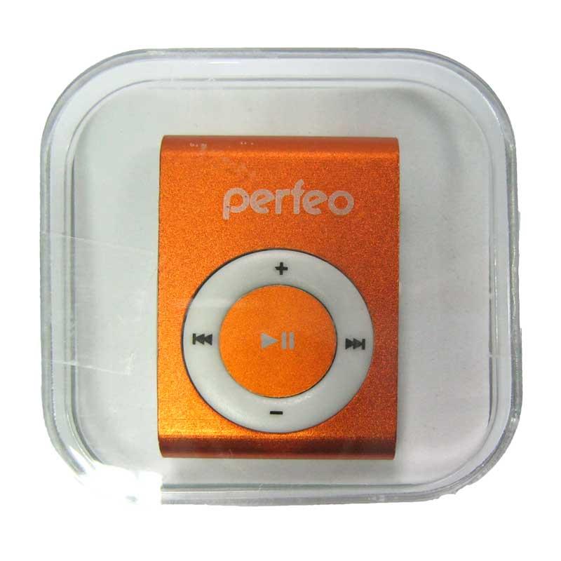 MP3 плеер Perfeo VI-M001Titanium,оранжевый; слот microSD