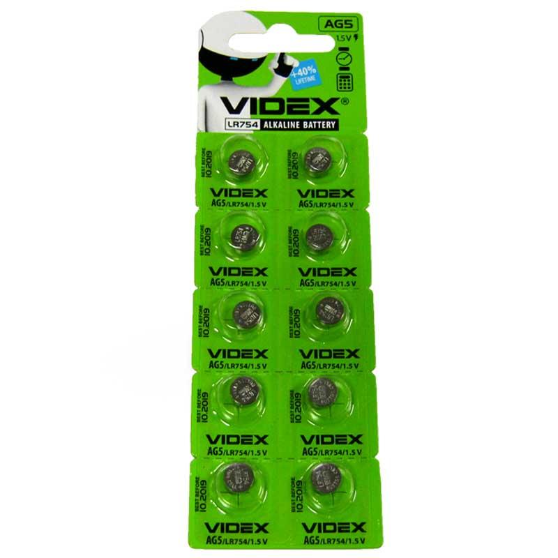 Батарейка Videx AG 5 (LR754) 1шт.