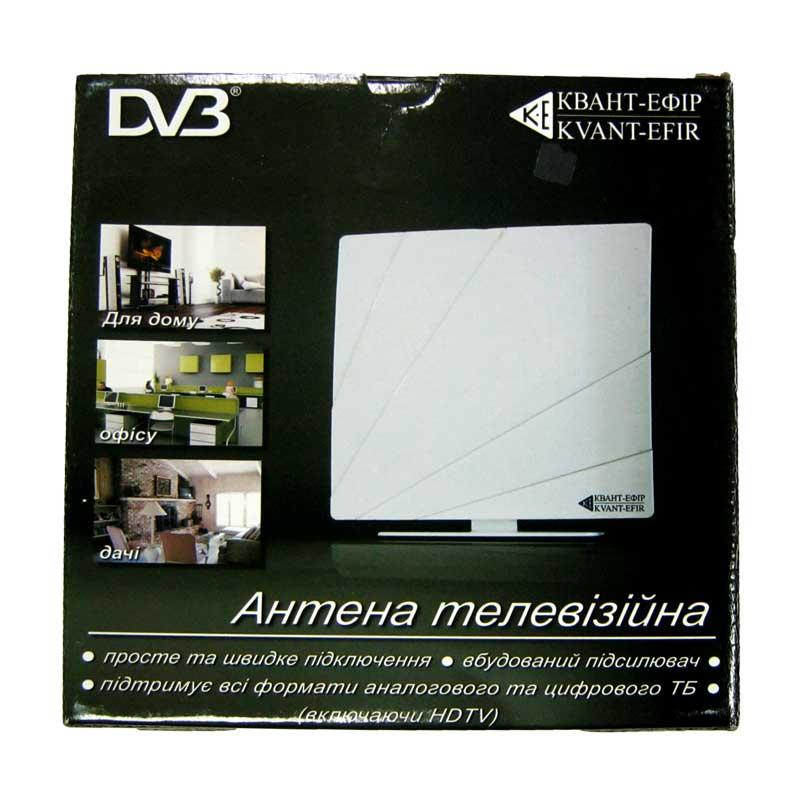 Антенна цифровая комнатная Квант-Эфир ARU-01(DVB-T2)белая