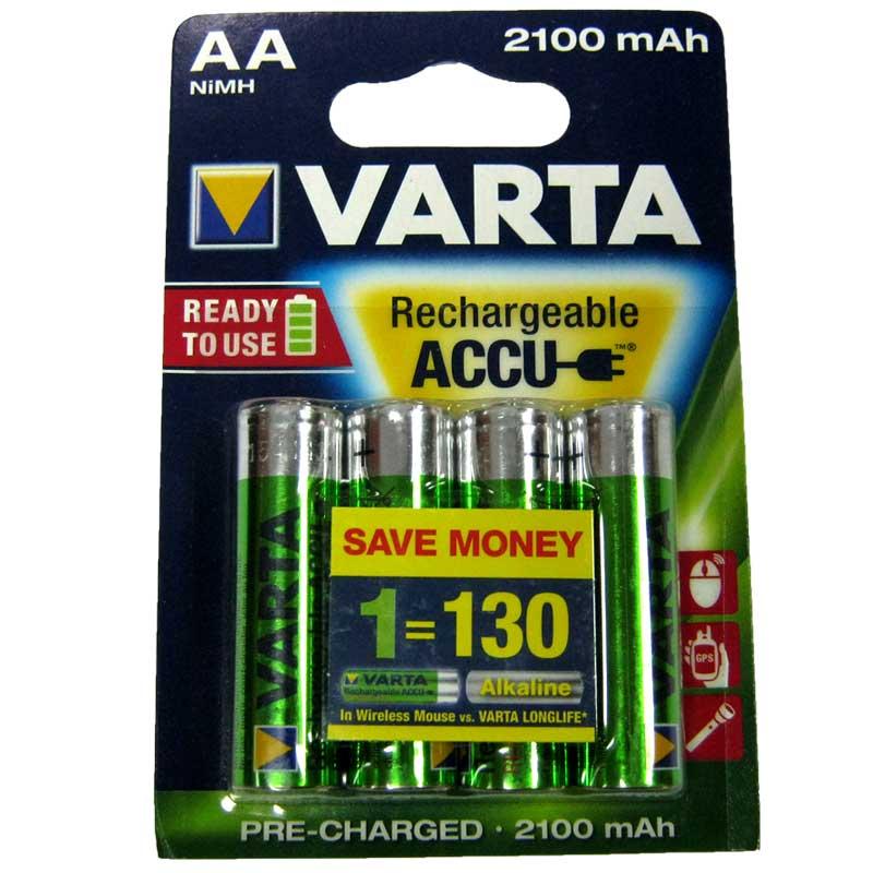 Аккумулятор R6 Varta 2100mA NiMH (56706)(по 4шт)(Передзаряженный)AA