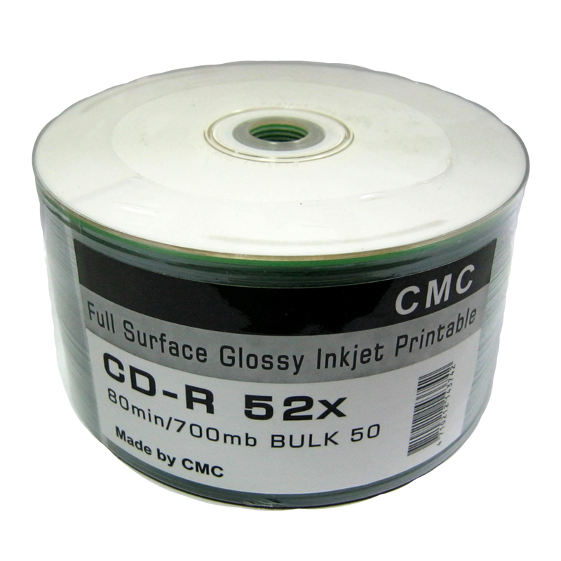 Диск CD-R CMC 700Mb/80min 52x (bulk 50) Printable white