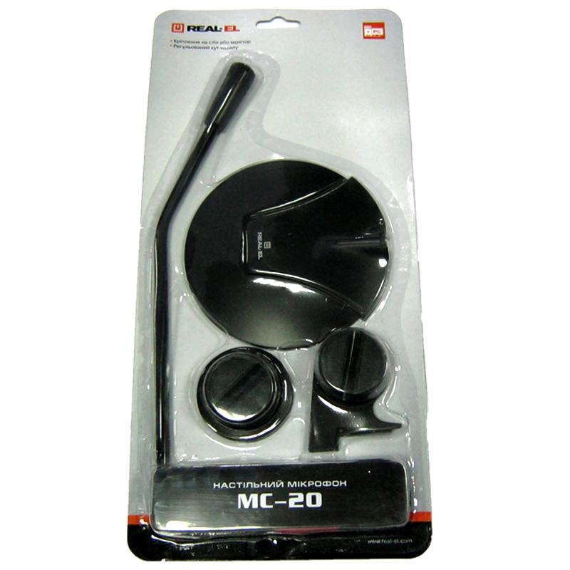 Микрофон REAL-EL MC-20 black