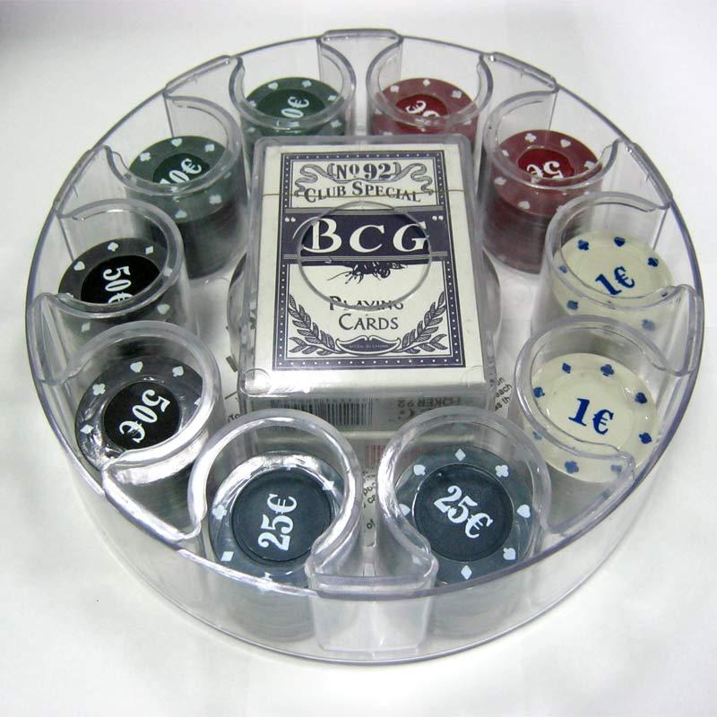 Покерный набор Покер 100 пластик (карты + фишки) 62009(Распродажа!!!)