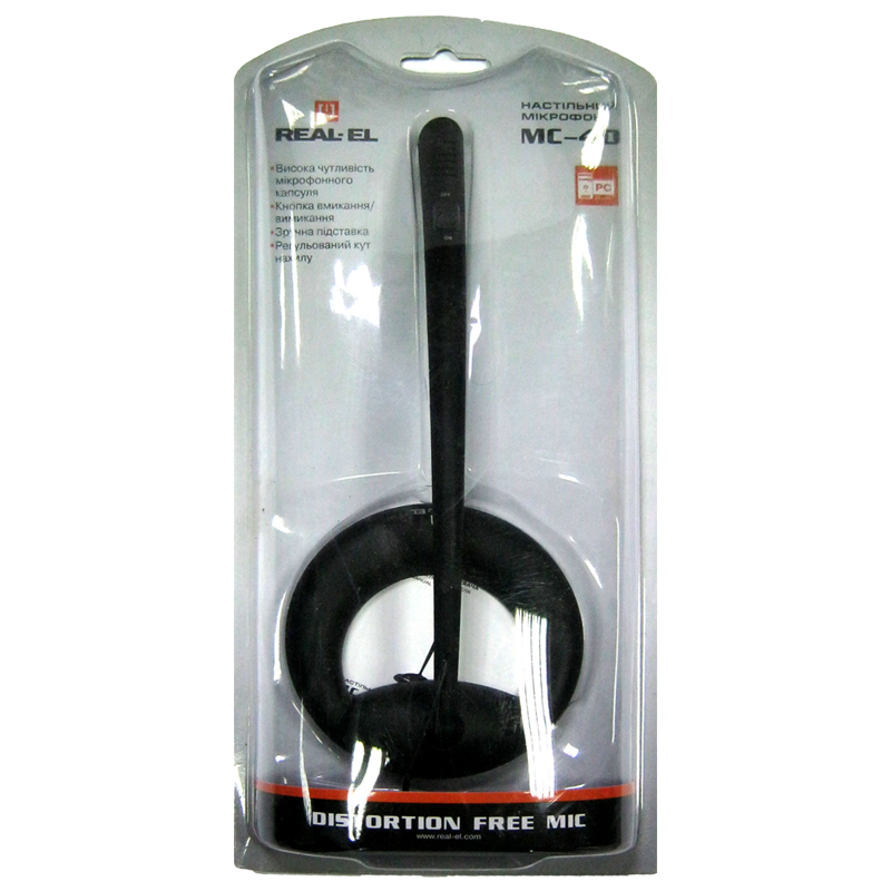 Микрофон REAL-EL MC-40 black