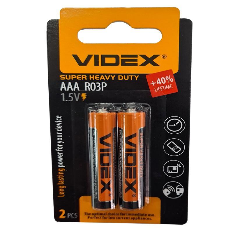 Батарейка R03 Videx мини блистер по 4 шт