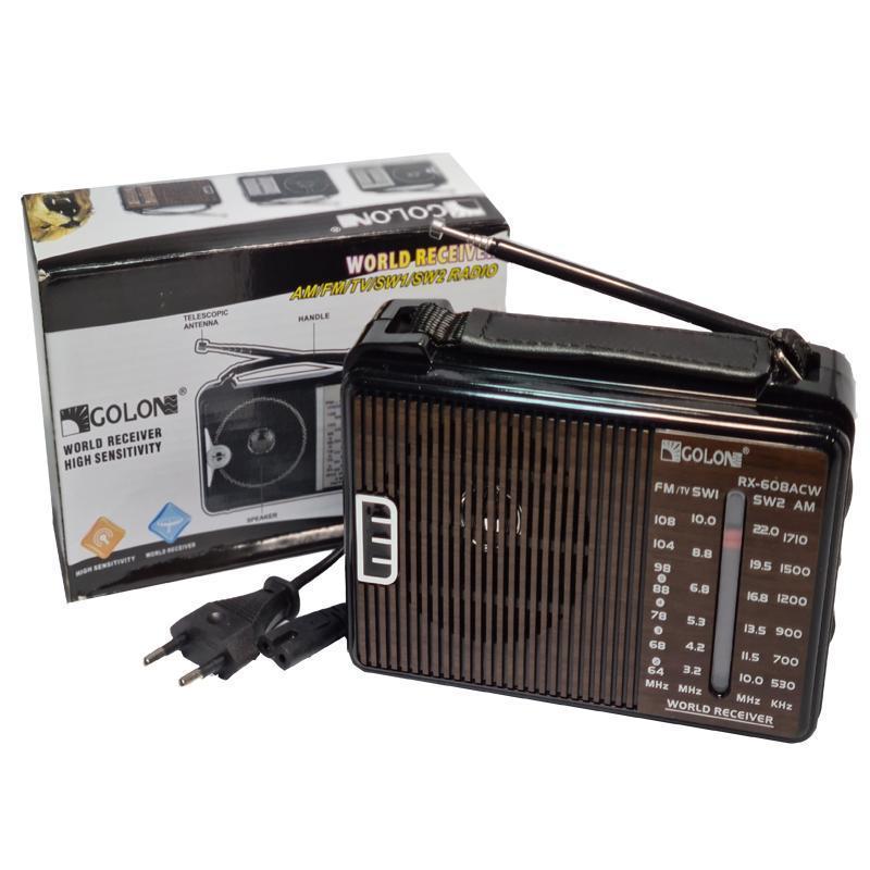 Радиоприёмник Golon RX-608ACW (сеть+батарейки)