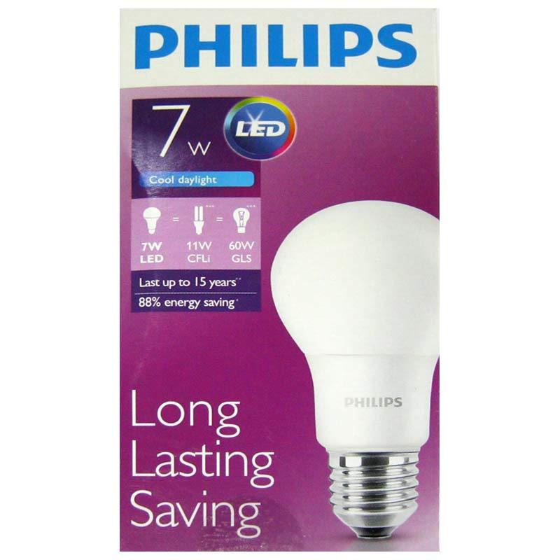Лампочка светодиодная Philips 7W 6500K; 230V; E27; A60(Распродажа!!!)