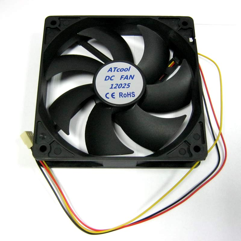 Вентилятор ATcool 12025, 3pin 120x120x25 черный