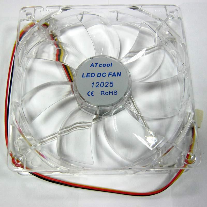 Вентилятор ATcool 12025, 3pin 120x120x25,LED Blue