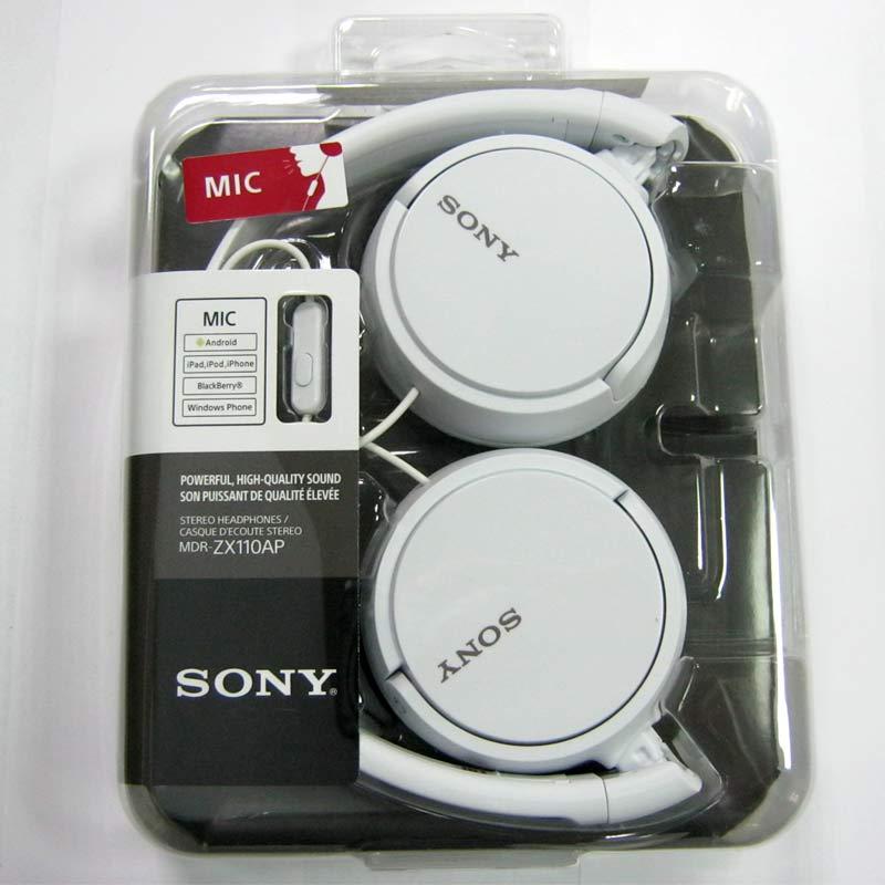 Гарнитура для телефона SONY MDR-ZX110AP white