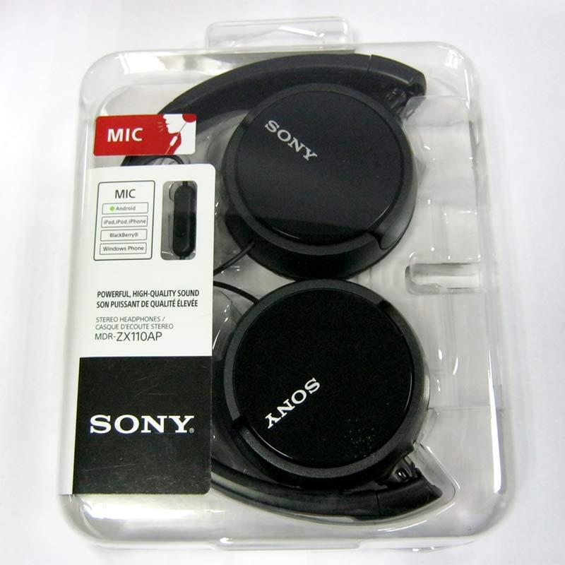 Гарнитура для телефона SONY MDR-ZX110AP black