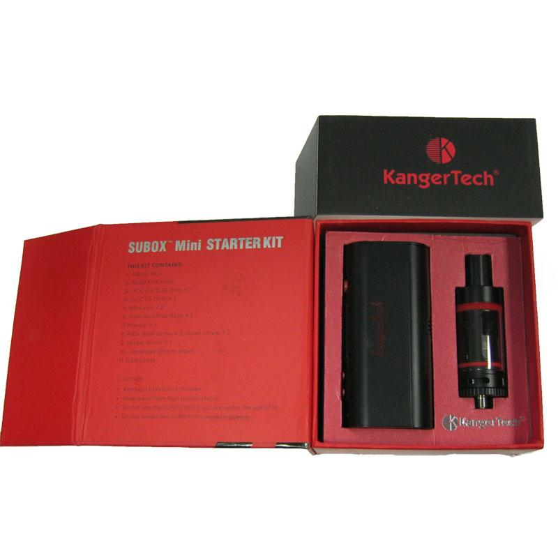 Электронная сигарета Kangertech SUBOX Mini 50W черная(Распродажа)(боксмод+атомайзер+3наг)
