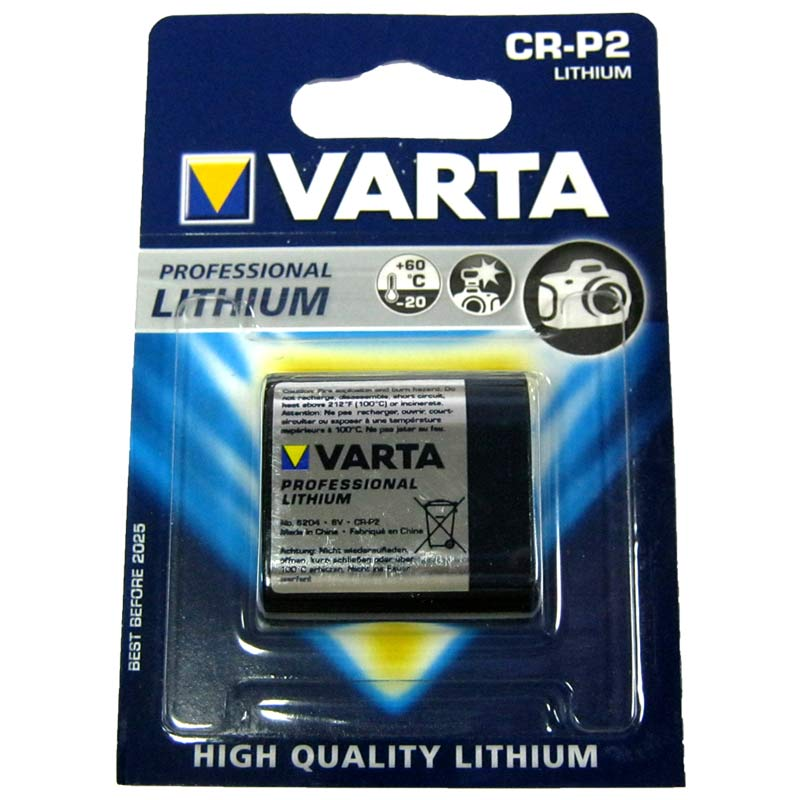 Батарейка CR-P2 6V Varta (для сенсорных кранов,фотоаппаратов)