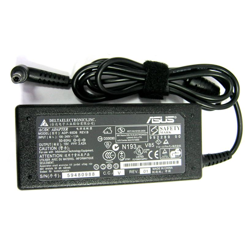 Зарядное устройство для ноутбука ASUS 19V; 3,42A; 5.5mmx2.5mm