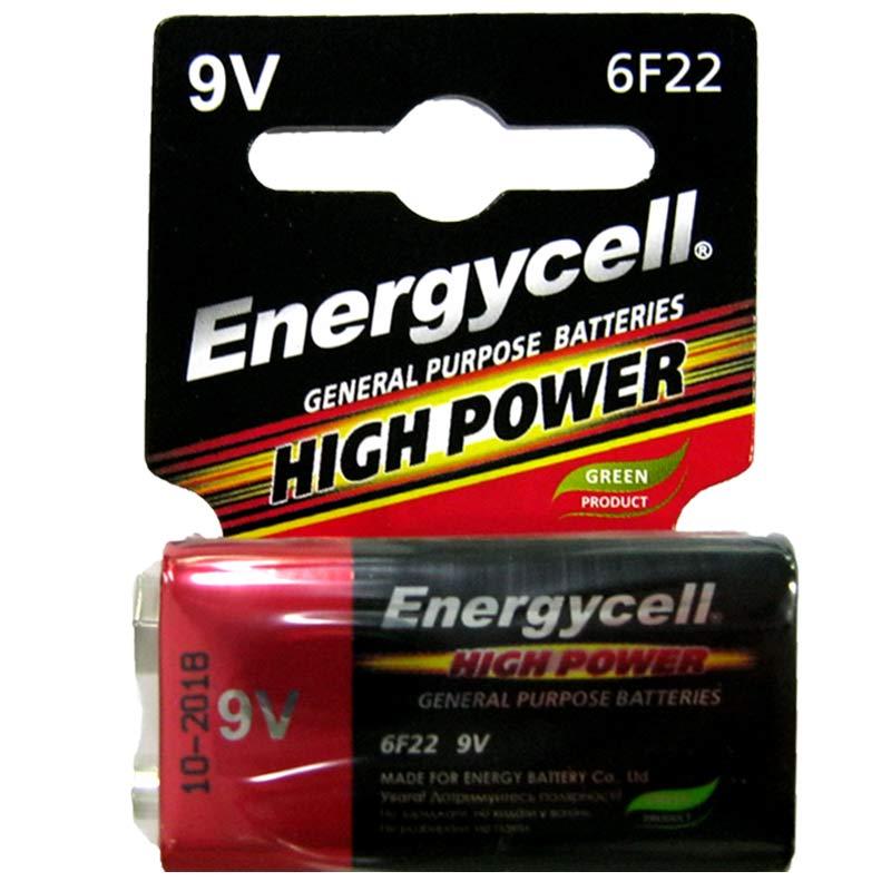Батарейка крона 6F22 Energycell блистер