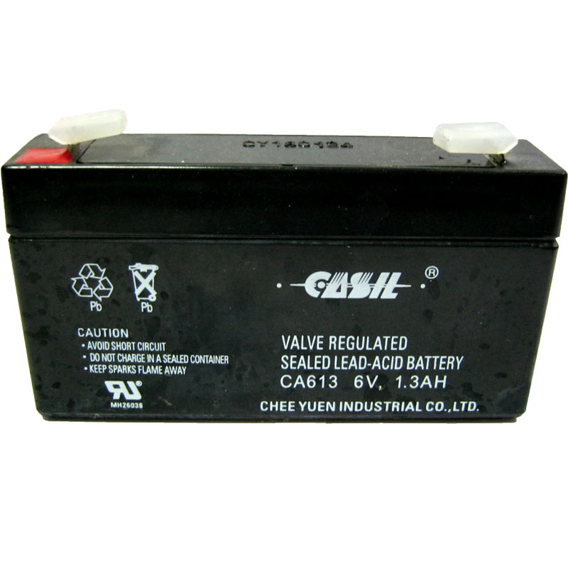 Аккумулятор свинцово-кислотный Casil CA613 6-1,3 (6V,1,3Ah)(97х24х51)(для весов)