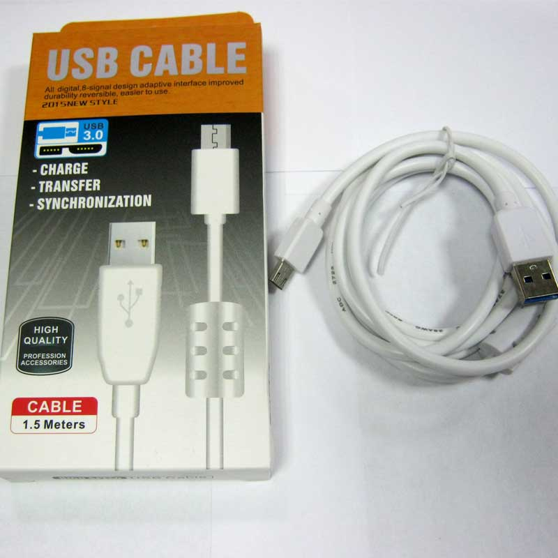 Кабель USB/micro USB 3.0 с проводимостью 2,1А+стабилизатор 1,5m