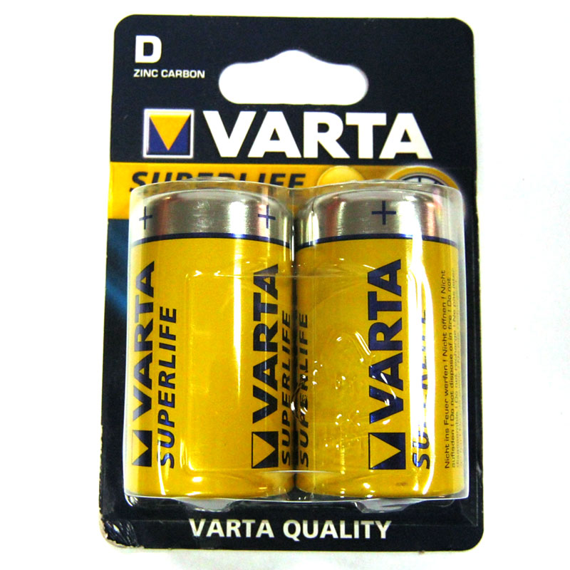 Батарейка R20 Varta Superlife, blister по 2шт