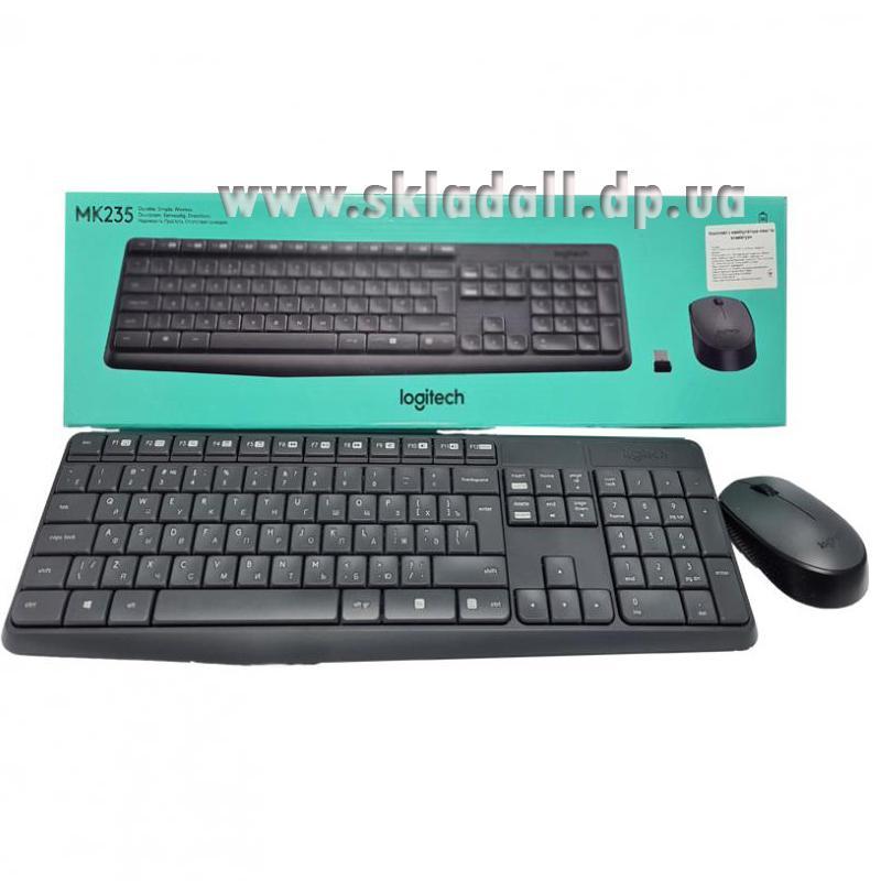 Беспроводная клавиатура Logitech Wrieleess MK 235 Black + мышка