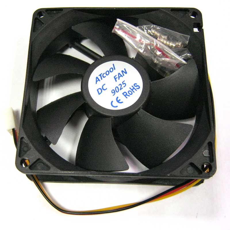 Вентилятор ATcool 9025, 3pin 92x92x25 черный