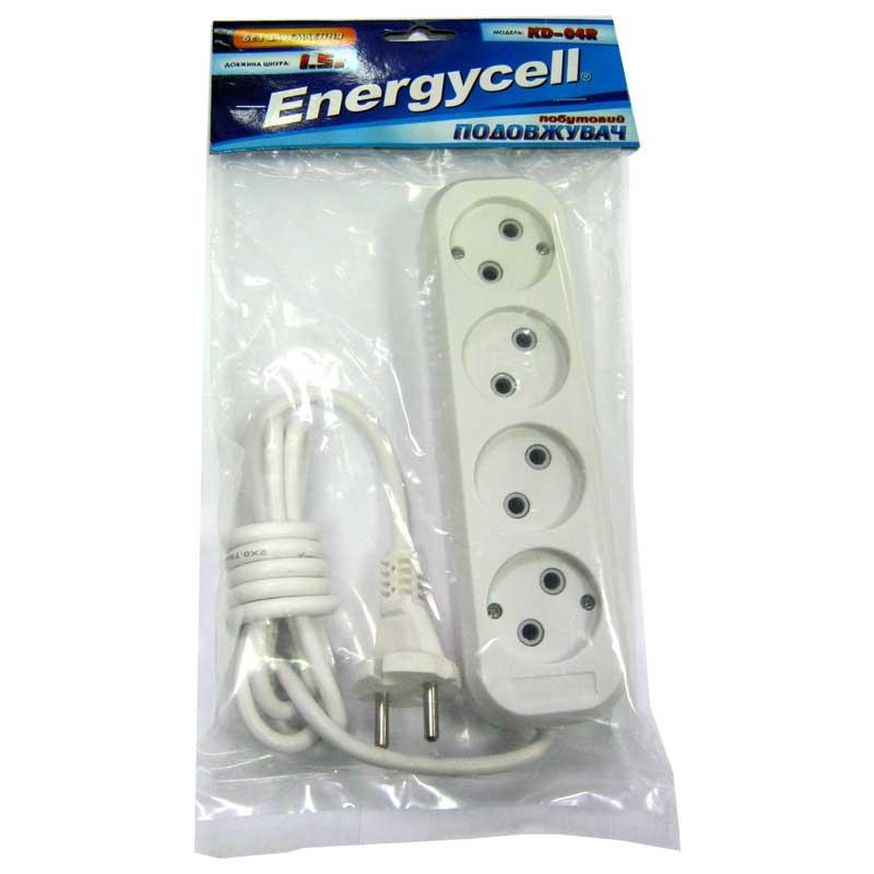 Удлинитель Energecell KD-04R(1,5м/4роз.,10А)