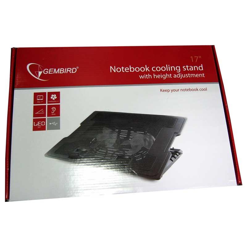 Подставка для ноутбука Gembird NBS-2F17Т-01,чорный,17
