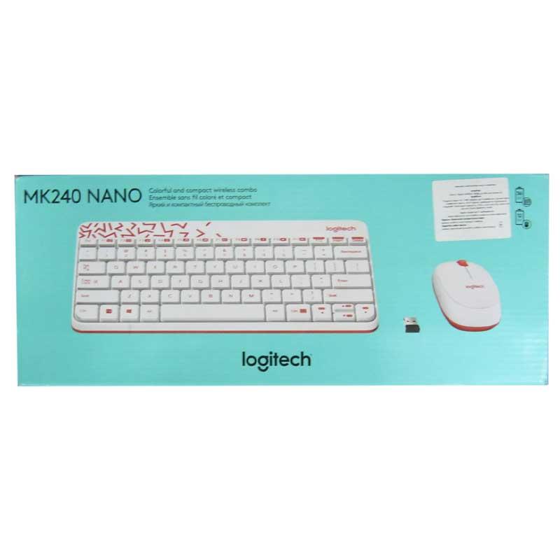 Беспроводная клавиатура Logitech Wrieleess MK 240 White + мышка