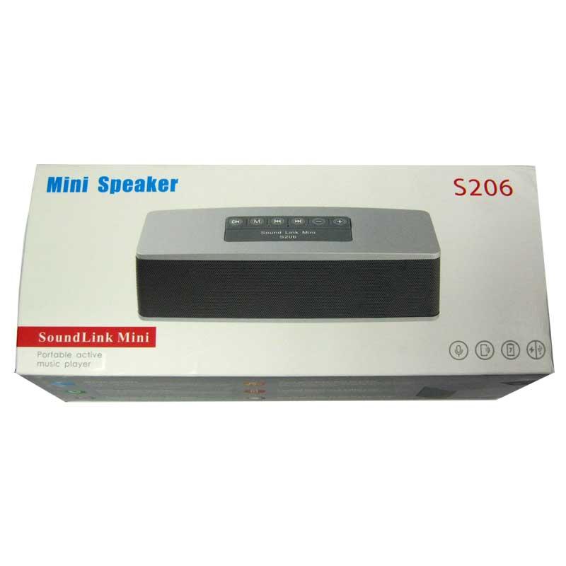 Портативная колонка Bluetooth AT-7706;S-206(2x5W;аккумулятор,2дин.+саб.;FM;USB;microSD)