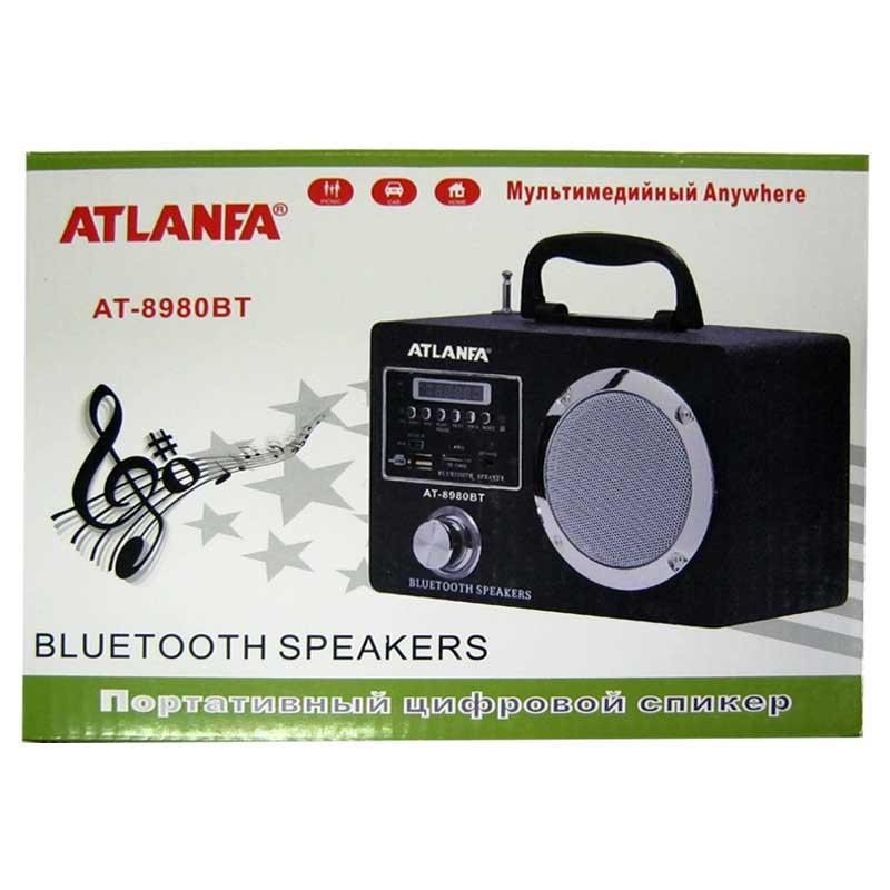 Портативная колонка Bluetooth Atlanfa AT-8980(Распродажа)(аккумулятор,не работает USB)