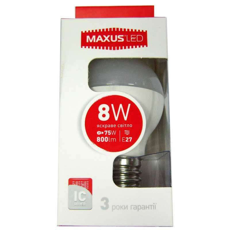 Лампочка светодиодная Maxus led 5414 G45 F 8W E27 4100K(Распродажа)