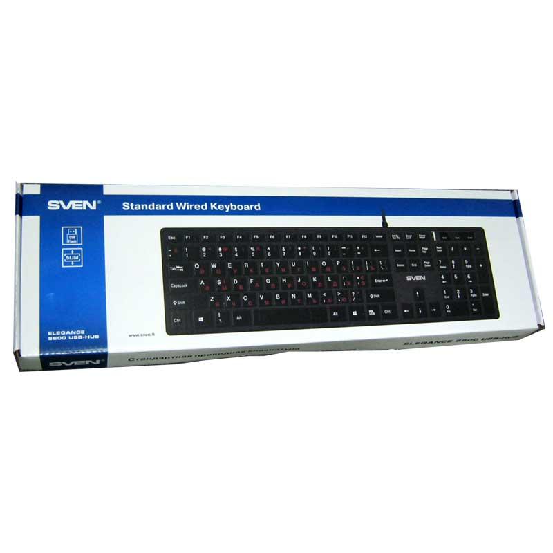klaviatura-sven-elegance-5600-black-usb-hub-slim
