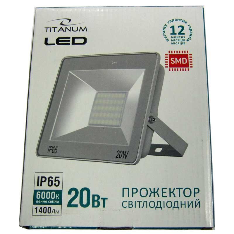 Прожектор светодиодный TITANIUM 20W 6000K (TLF206)(Cупер цена!!!)