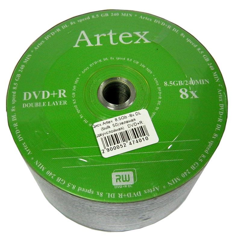 disk-artex-8-5gb--8x-dl-bulk-50-dvuhsloynaya-dvd-r