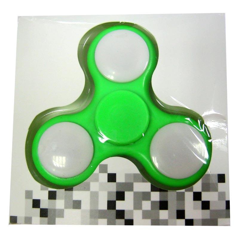 Спиннер лепесток тройной с метал.подшипником светящийся Green