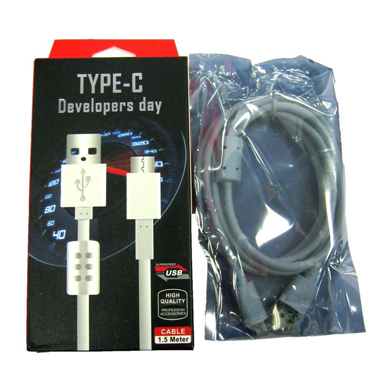 Кабель USB/Type-C USB3.0 c проводимостью 2,1А+стаб.напряж. 1.5m