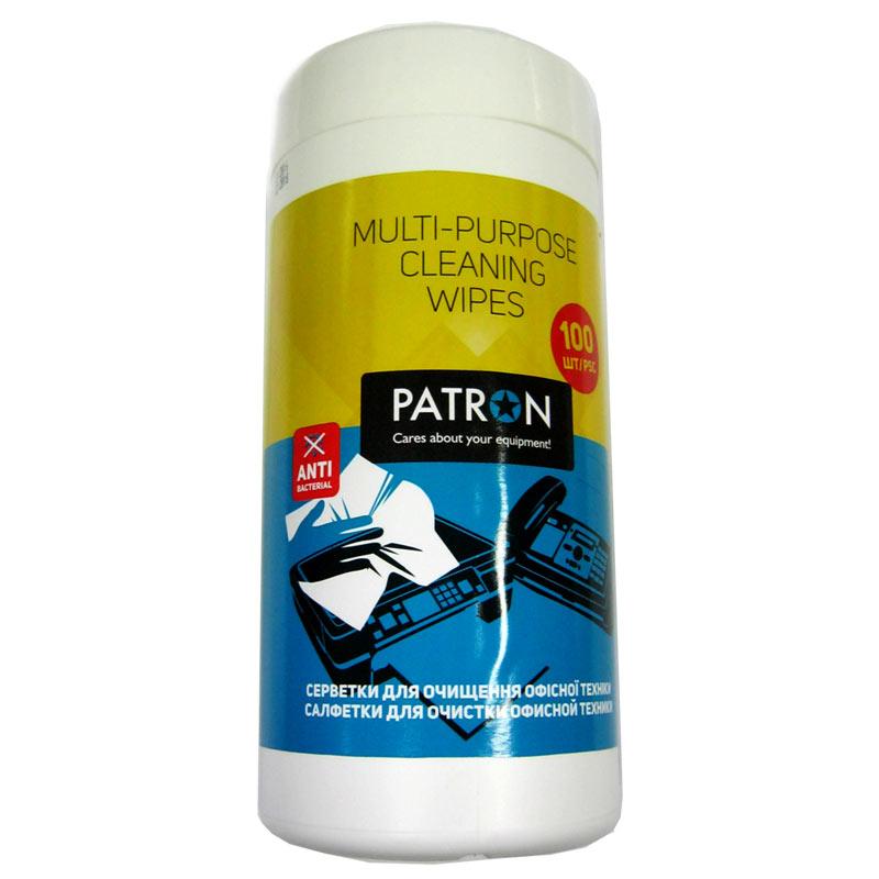 Чистящие салфетки PATRON F3-028 для орг.техники (банка 100шт)