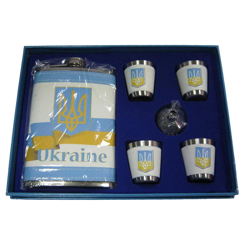 Набор MOONGRASS фляга+4 рюмки AL-008 Украина