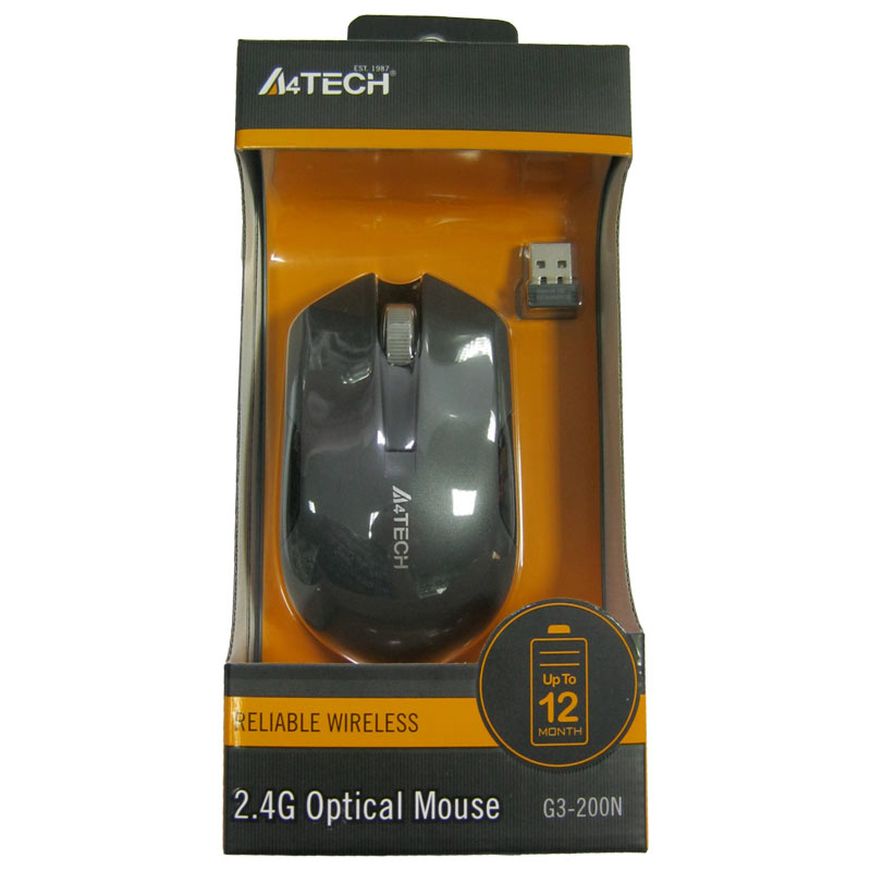 Беспроводная мышка A4Tech G3-200N Black-Grey,V-TRACK USB