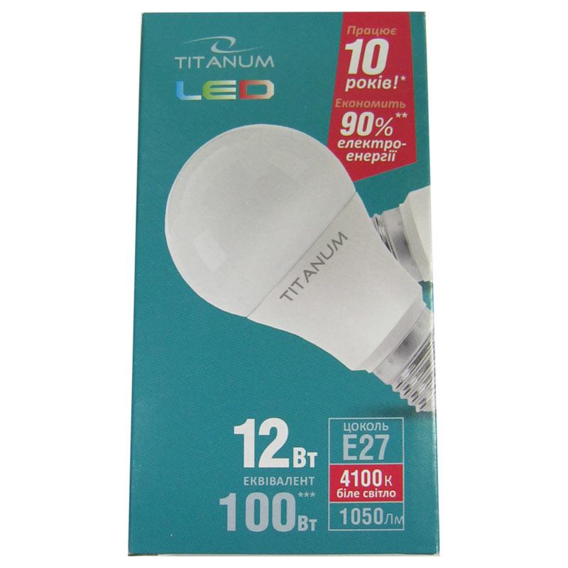 Лампочка светодиодная Titanium A60 12W E27 4100K