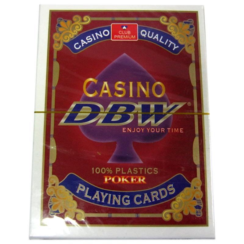 Карты игральные Сasino DBW 54шт,100%Plastic