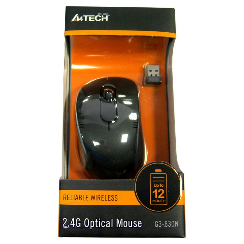 Беспроводная мышка A4Tech G3-630N black,V-TRACK USB