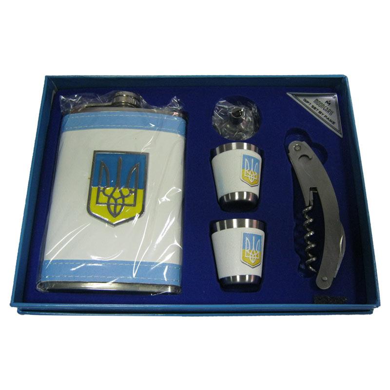 Набор MOONGRASS фляга+2рюмки+нож 179-6 Украина